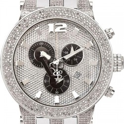Mens Diamond Watch Joe Rodeo Broadway JRBR17 5.00 ct Steel Bracelet