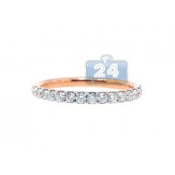 18K Rose Gold 0.60 ct Diamond Womens Band Ring