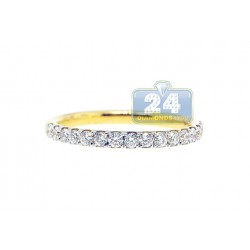 18K Yellow Gold 0.60 ct Diamond Womens Band Ring
