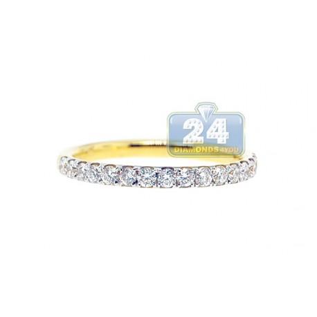 18K Yellow Gold 0.60 ct Diamond Womens Band Ring