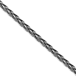 Italian 925 Sterling Silver Wheat Solid Link Unisex Chain 1.6 mm
