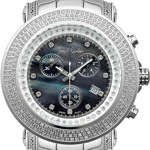 mens diamond watch joe rodeo junior jju6 2 50 ct black dial