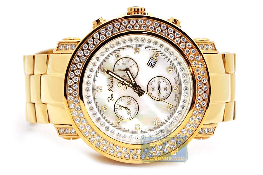 mens diamond watch joe rodeo junior jju48 4 75 ct yellow gold