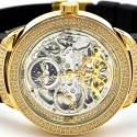 Mens Diamond Automatic Watch Joe Rodeo Master JJM81 2.20 ct Skeleton