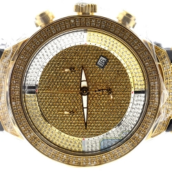 Mens Diamond Watch Joe Rodeo Master JJM9 2.20 ct Yellow Gold