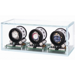Triple Watch Winder W35003 Orbita Tourbillon 3 Crystal Glass