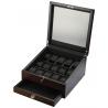 15 Watch Display Storage Box Volta 31-560975 in Rustic Brown