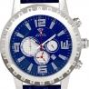 Aqua Master Jumbo 0.24 ct Diamond Mens Blue Dial Watch