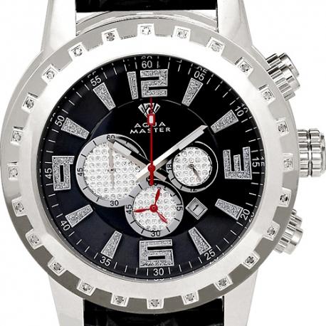 Aqua Master Jumbo 0.24 ct Diamond Mens Steel Watch