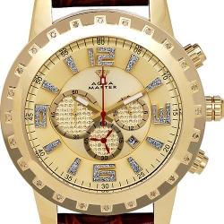 Aqua Master Jumbo 0.24 ct Diamond Mens Yellow Dial Watch