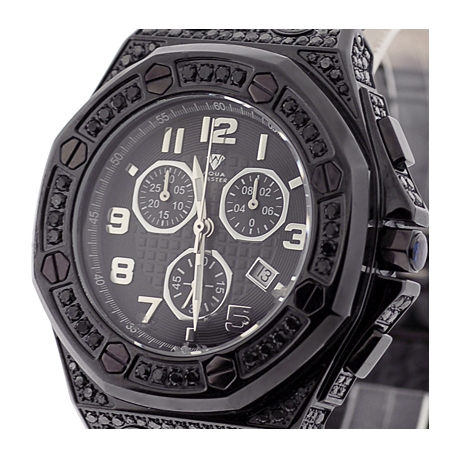 master royal 8 50 ct iced out black diamond mens watch aqua master royal 8 50 ct iced out black diamond mens watch