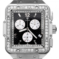 Aqua Master Square 4.25 ct Diamond Mens Steel Watch