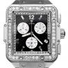 Aqua Master Square 4.25 ct Diamond Mens Steel Watch