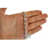 Sterling Silver Anchor Puff Link Mens Chain 8 mm