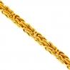 Italian 14K Yellow Gold Byzantine Mens Chain 2.5 mm