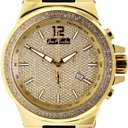 Mens Diamond Watch Joe Rodeo Liberty JRLI3 1.50 ct Yellow Gold