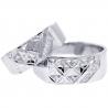 Diamond Wedding Rings His Hers Set 18K White Gold 0.10 ct