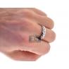 Diamond Two Wedding Bands Set 18K White Gold 0.14 ct