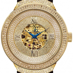Mens Diamond Automatic Watch Joe Rodeo JJM72 2.20 ct Yellow