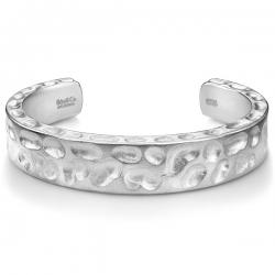 Matte Silver Diamond Camouflage Cuff Bracelet Edus&Co