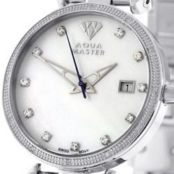Womens Diamond Watch Aqua Master 0.3 ct Silver
