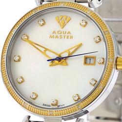 Womens Diamond Watch Aqua Master 0.3 ct Two Tone Steel
