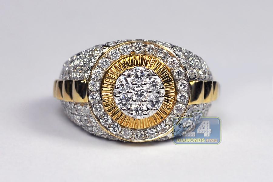 Mens Black Diamond Pinky Ring