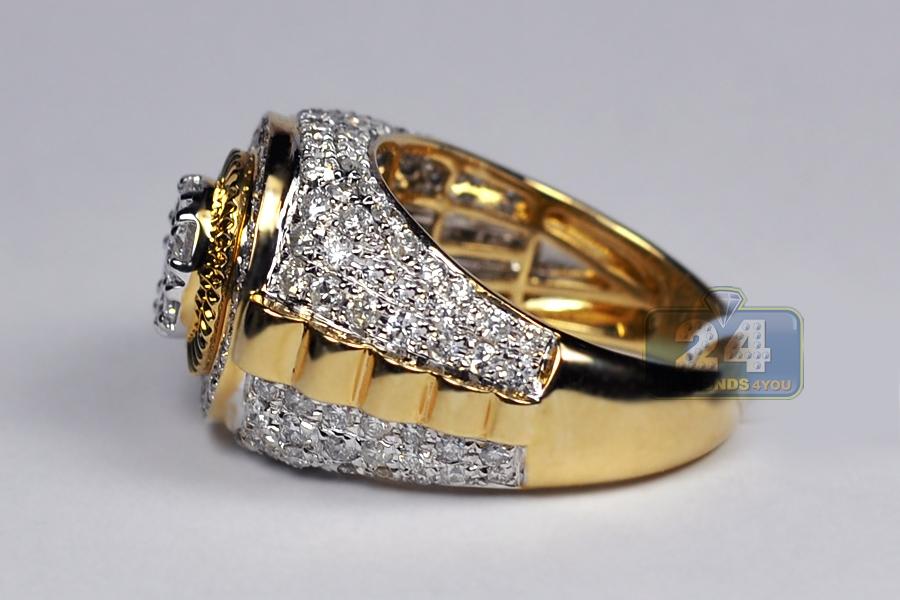 Mens K Gold Pinky Rings
