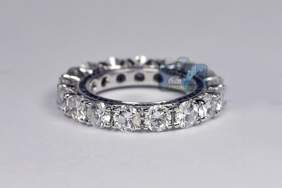 womens diamond sapphire eternity ring 18k white gold ct. Black Bedroom Furniture Sets. Home Design Ideas
