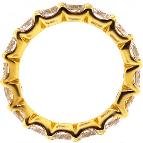 Womens Diamond Wedding Eternity Ring 18K Yellow Gold 4.00 ct