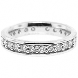 14K White Gold 1.50 ct Diamond Womens All Way Around Eternity Ring
