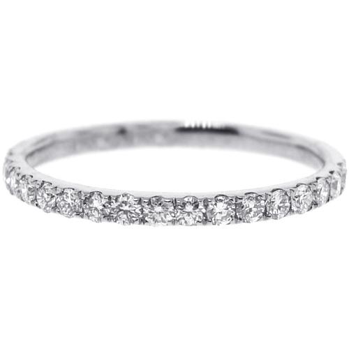 Womens Diamond Wedding Band 18K White Gold 035 Ct 18 Mm