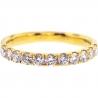 Womens Diamond Wedding Band 18K Yellow Gold 0.58 ct 2.3 mm
