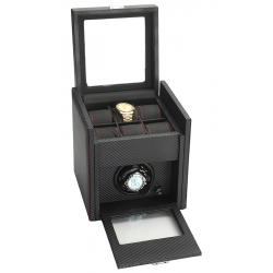Single Watch Winder Storage 34-701 Diplomat Modena Carbon Fiber