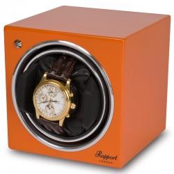 Single Automatic Watch Winder EVO10 Rapport Evolution Orange