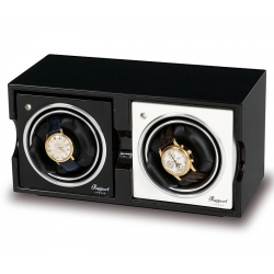 Double Watch Winder Box FR02 Rapport Evolution Black Wood