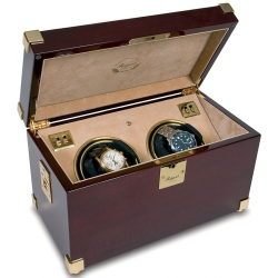 Double Watch Winder W272 Rapport Optima Captian's Mahogany
