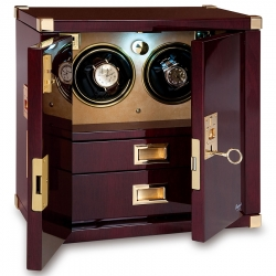 Double Watch Winder Cabinet W282 Rapport Optima Captian's Mahogany