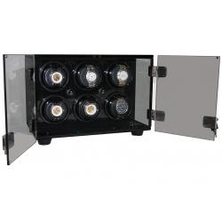Six Watch Winder Cabinet W60138 Orbita Milano Smoked Acrylic