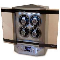 Quad Watch Winder Cabinet W310 Rapport Templa Silver Wood