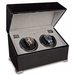 Rapport Perpetua II Ebony Double Watch Winder Box W122