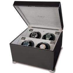 Rapport Perpetua II Ebony Quad Watch Winder Box W124
