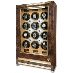 12 Watch Winder Cabinet W532 Rapport Paramount Walnut Wood