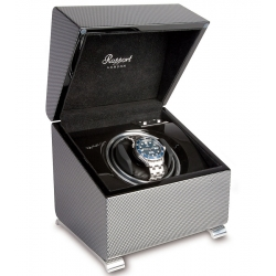 Single Automatic Watch Winder Box W371 Rapport Vogue Carbon Fiber
