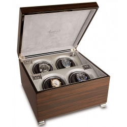 Quad Automatic Watch Winder Box W344 Rapport Vogue Macassar