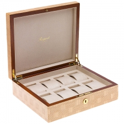 Rapport Heritage Bamboo Wood 8 Watch Storage Box L406