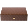 Rapport Portman Herringbone Wood 10 Watch Storage Box L411