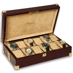 Rapport Captain's Mahogany Wood 12 Watch Box B267
