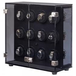 Orbita Milano Carbon Fiber 12 Watch Winder Cabinet W60139 Rotorwind