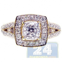 14K Yellow Gold 1.22 ct Diamond Womens Engagement Ring